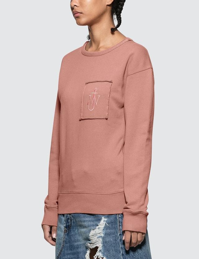 JW Anderson Garment Dyed Jwa Anchor Patch Sweatshirt