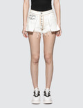 Unravel Project Washout Denim Reversed Shorts Picutre