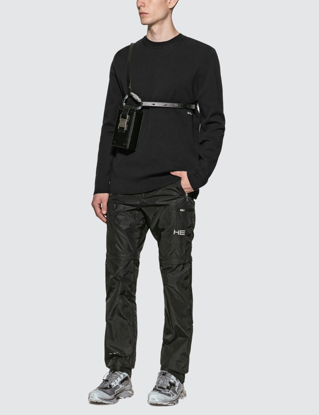 Heliot Emil Leather Carabiner Phone Sling Bag