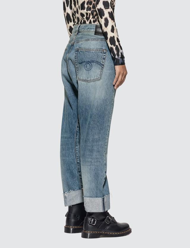 R13 Crossover Asymmetric-waist Jeans