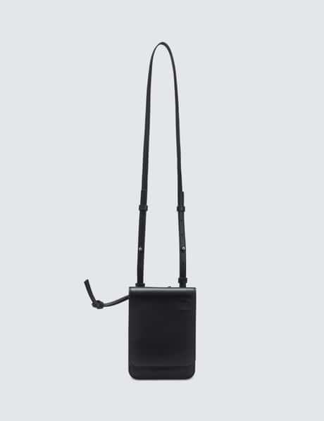 로에베 Gusset플랫 폰백 크로스바디 - 블랙 LOEWE Gusset Flat Crossbody Bag