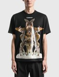 Burberry Kaleidoscope Print Cotton Oversized T-Shirt Picutre