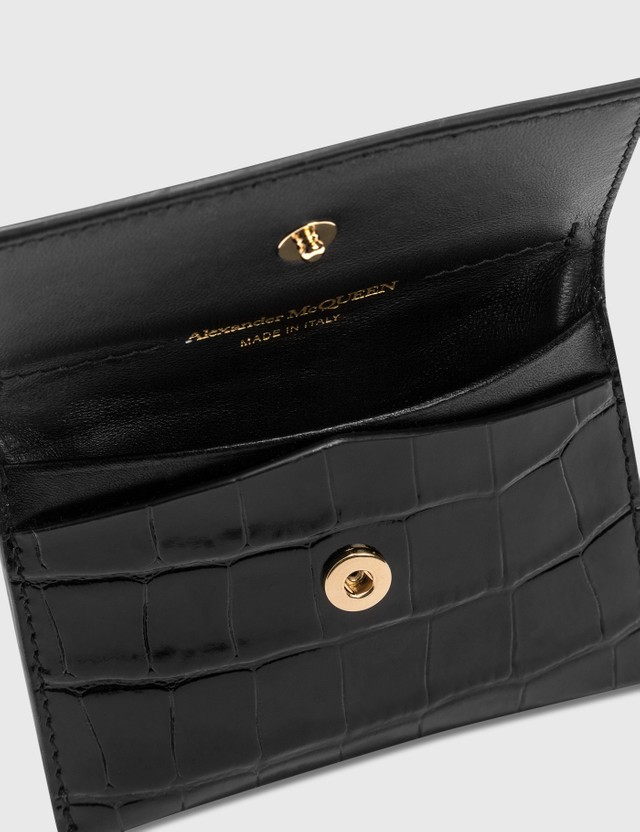 Alexander McQueen Envelope Card Holder Black Women