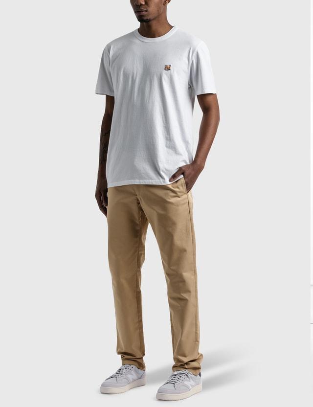 Maison Kitsune Fox Head Patch Classic 티셔츠 White Men