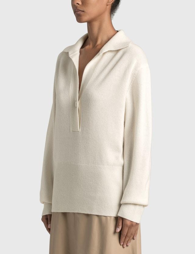 Christopher Esber Oversized Polo Knit Natural Women