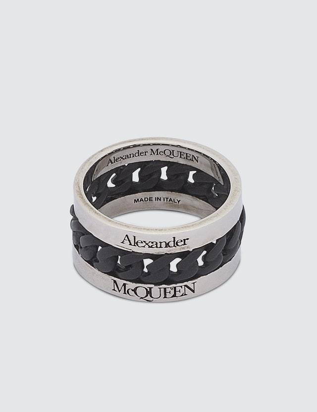 Alexander McQueen Bi-Color Chain Ring