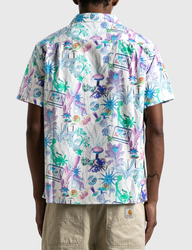 Real Bad Man Psychedelica Vacation Shirt Green / Purple Multi Print Men