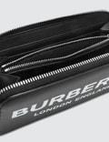 Burberry Logo Print Leather Zip-around Wallet