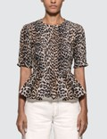 Ganni Leopard Silk Blouse Picture
