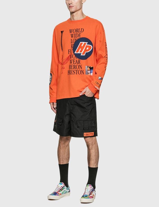 Heron Preston Reg Collage Long Sleeve T-Shirt