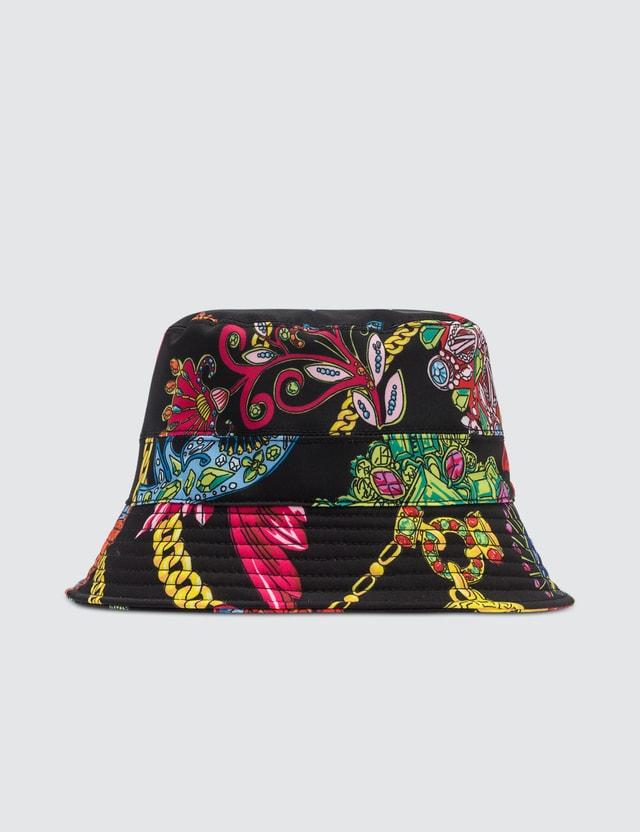 Versace Allover Chain Print Bucket Hat