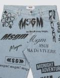 MSGM Multi Logo Denim Pants