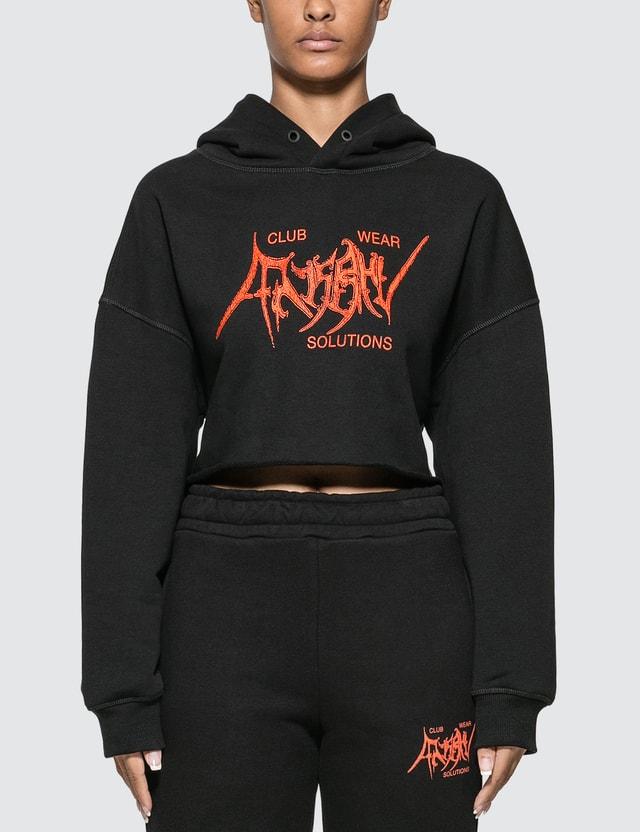 Misbhv Gothic Cropped Hoodie