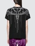 Marcelo Burlon Stitching Wings Short Sleeve T-shirt