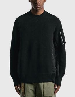 Sacai Sponge Sweat X Ma-1 Pullover