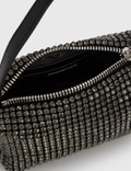 Alexander Wang Heiress Rhinestone Medium Pouch Black Women