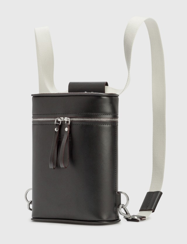 Maison Margiela Water Leather Backpack Black Men