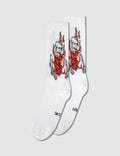 SSS World Corp Flaming Skeleton Socks Picture