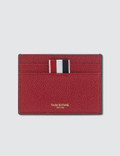 Thom Browne Bicolor Single Card Holder In Pebble Grain Picture