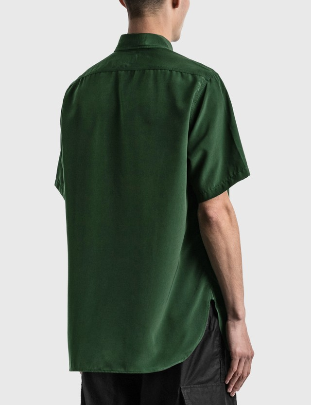 Needles Short Sleeve Work Shirt Green Men