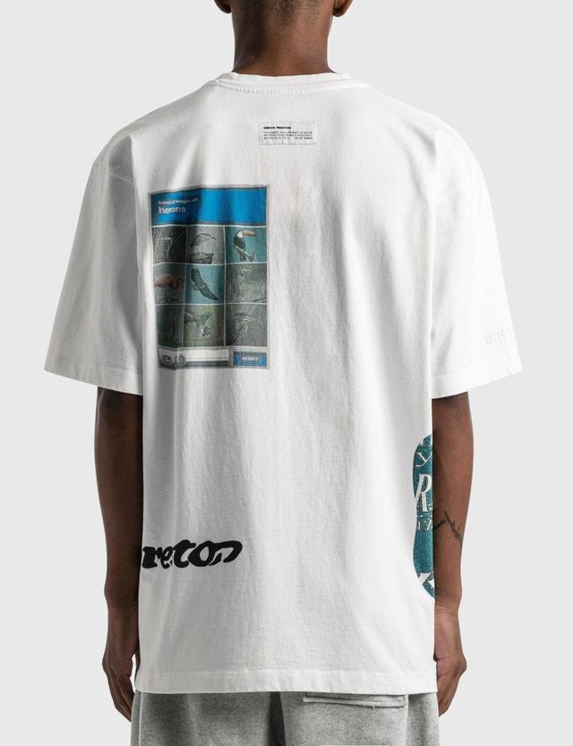 Heron Preston reCAPTCHA Print T-shirt White Light Blue Men
