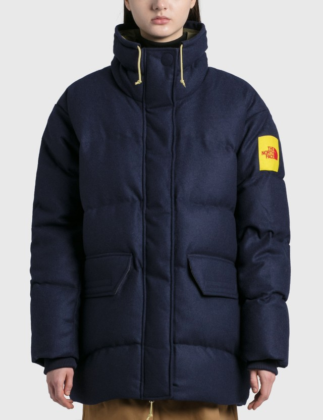 The North Face Brown Label Larkspur Wool Down Jacket Aviator Navy Women