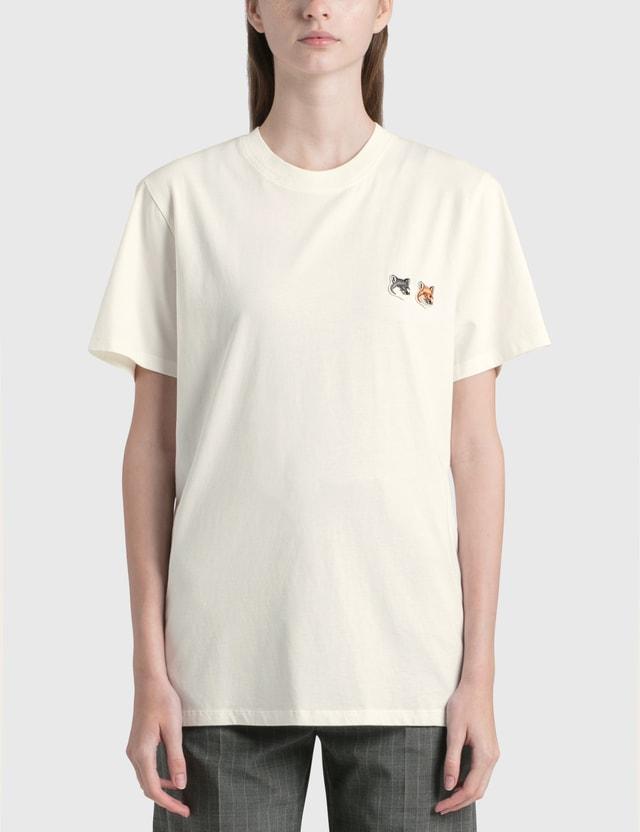 Maison Kitsune Double Fox Head Patch Classic T-shirt