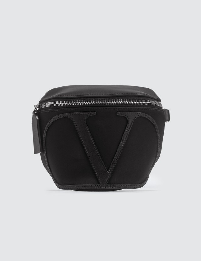 Valentino Valentino Garavani Logo Small Waist Bag Black Men