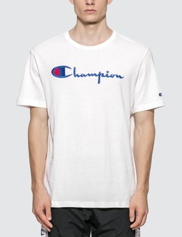 Champion Reverse Weave Big Script Crewneck T-shirt