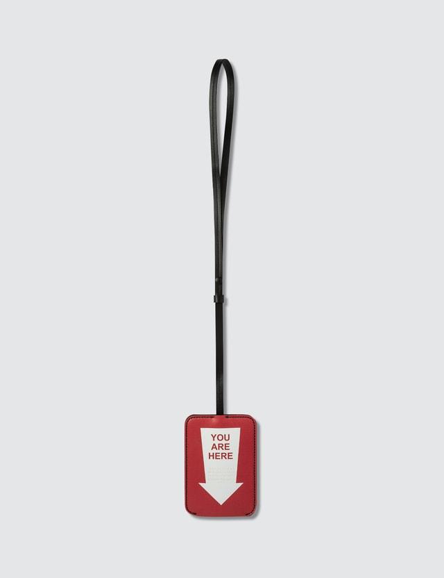 Maison Margiela Printed Leather Keychain