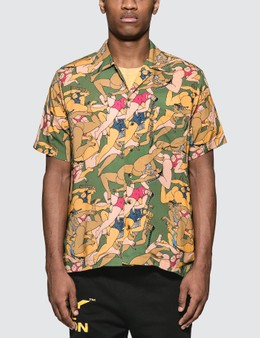Brain Dead Hawaiian Shirt With Women Print