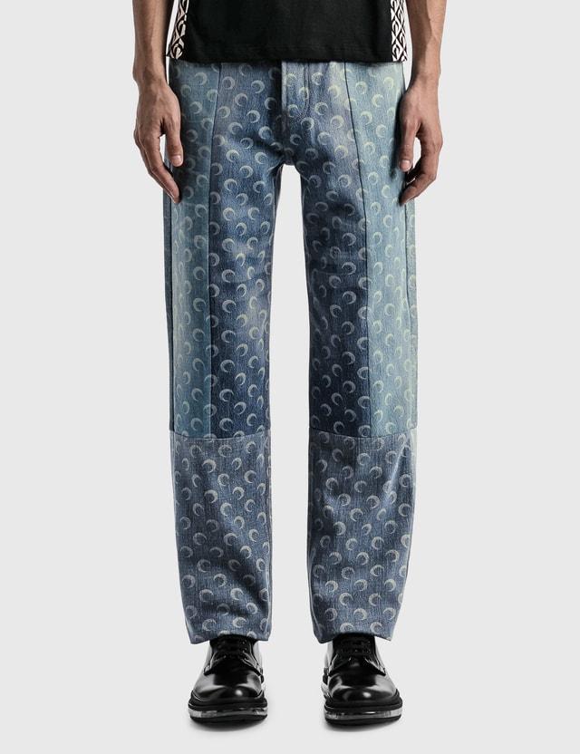 Marine Serre Moon Denim Trousers 06 Dark Medium Blue Men