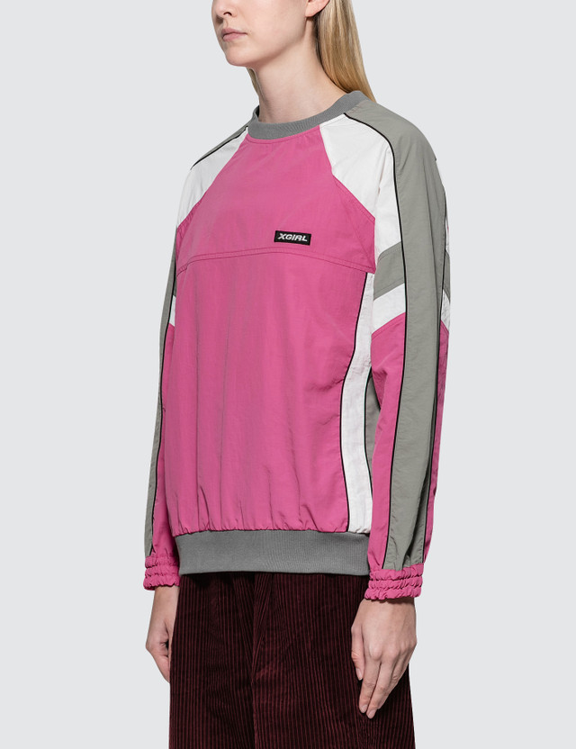 X-Girl Paneled Track Top Pink Women