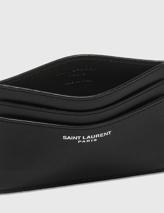 Saint Laurent Smooth Leather Card Holder Nero Men