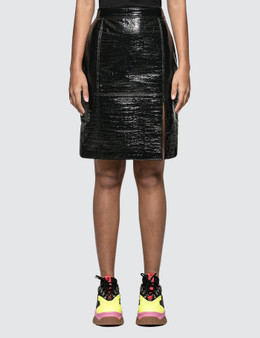 MSGM Faux Cocco Skin Skirt