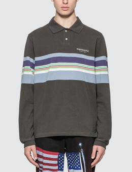 Thisisneverthat L-logo Striped Jersey Polo