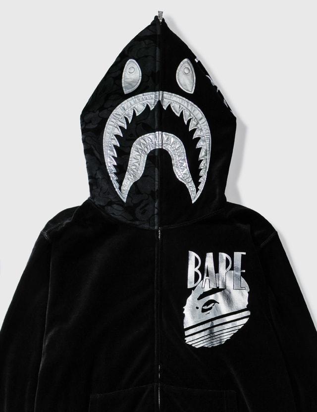 BAPE Bape Velvet Shark Hoodie Black Archives