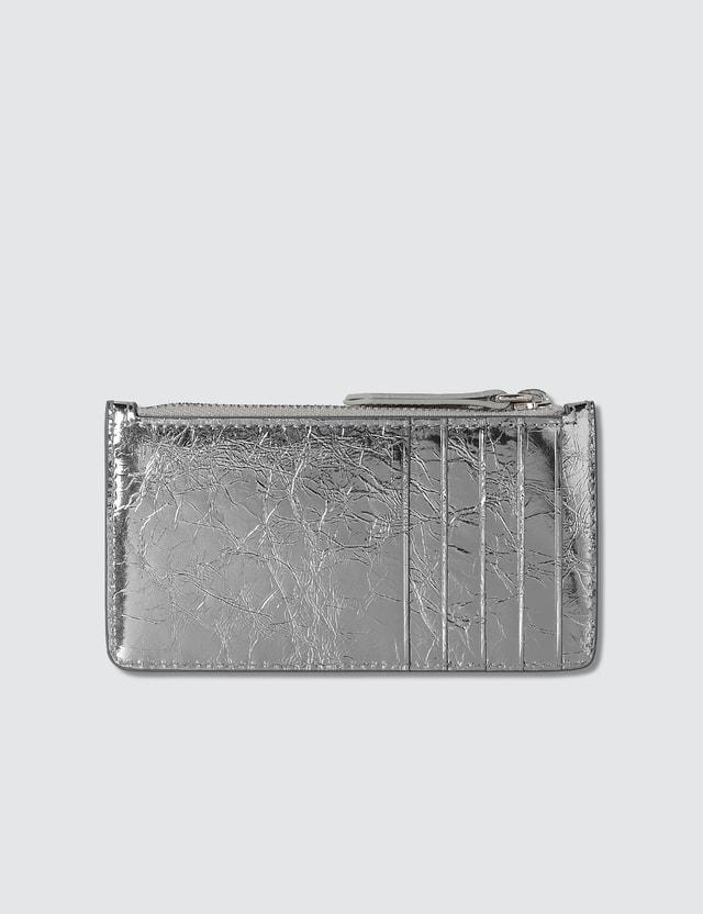 Maison Margiela Crinkle Leather Zipped Card Holder
