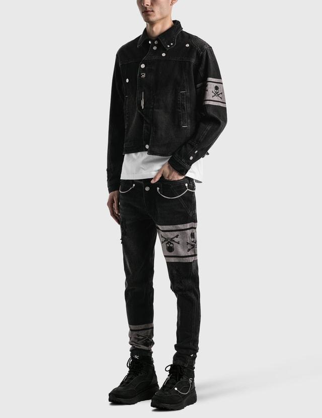 C2H4 Los Angeles C2H4® x Mastermind Japan Asymmetrical Layered Denim Jacket