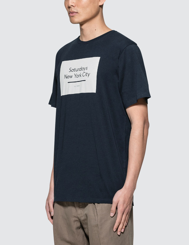 2a773d30dc Saturdays Nyc - Underlined Standard Box S/S T-Shirt | HBX