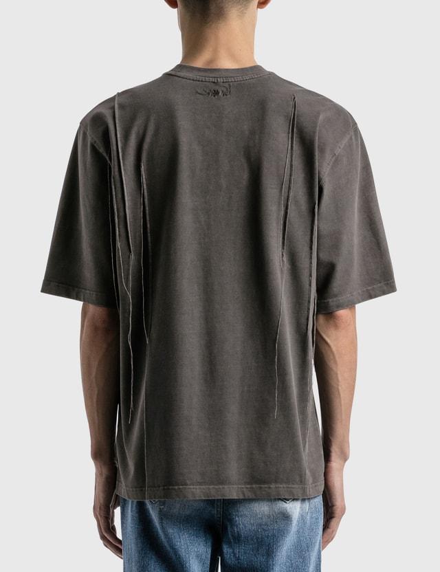 Ader Error Needle Logo T-shirt Chacoal Men