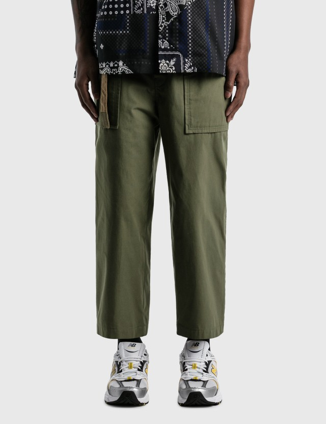 Sacai Cotton Oxford Pants Khaki Men
