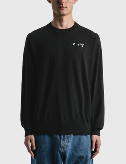 Off-White Off White Logo Basic Knitted Sweater