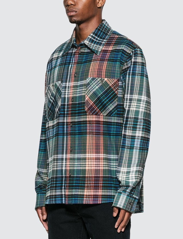 Off-White Stencil Arrow Flannel Check Shirt