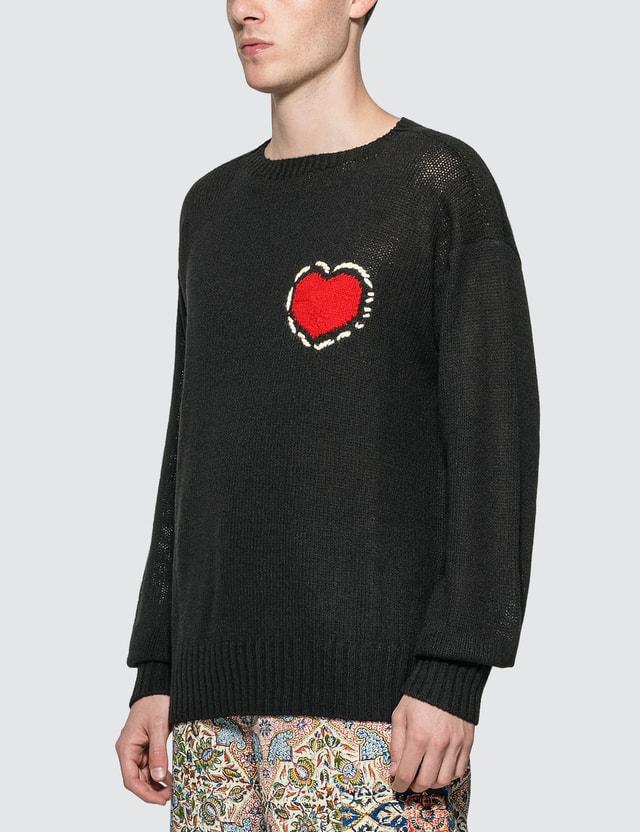 Prada Heart Shetland Wool Knit