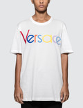 Versace Rainbow Color Logo Short Sleeve T-shirt Picture