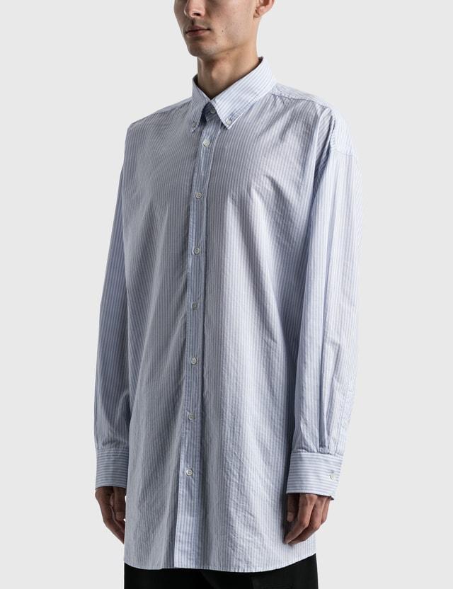 Maison Margiela Oversized Pinstripe Shirt Cerulean Stripe Men