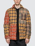 Burberry Contrast Check Cotton Flannel Puffer Overshirt Picture