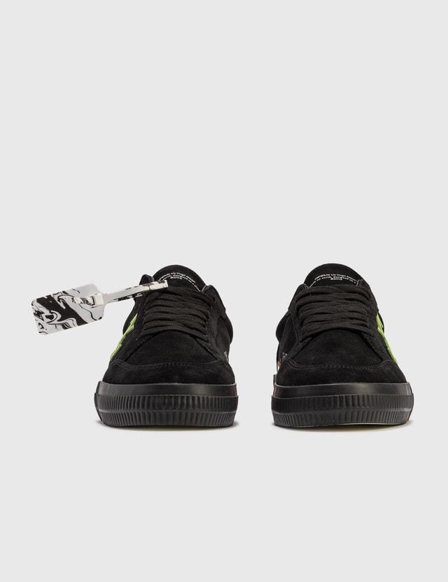 Off-White Low Vulcanized Cow Suede Sneaker Black Green Men