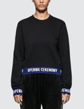 Opening Ceremony Scallop Oc Elastic Logo Crop Sweatshirt Picture